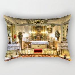 Zosna Old Countryside Church Latvia Rectangular Pillow