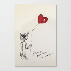I love you more than I thought Canvas Print