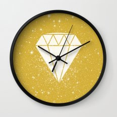 Space Diamond (gold) Wall Clock
