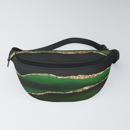 Emerald Marble Glamour Landscapes Fanny Pack