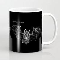 vagina Mugs featuring Batgina on black by oozingsalt