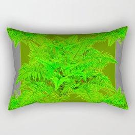 REFRESHING  NATURAL GREEN FERNS  GREY ART Rectangular Pillow