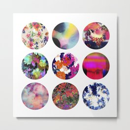 Flower Circles Metal Print