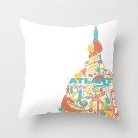 atlanta Throw Pillows featuring Atlanta, GA by ahutchabove