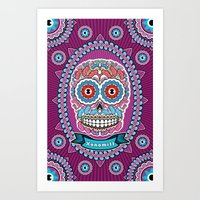 mexican Art Prints featuring Mexican Skull by Xonomitl