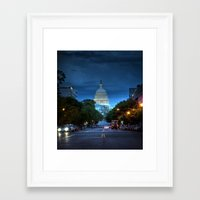 washington dc Framed Art Prints featuring Washington, DC by ClintonBPhotography