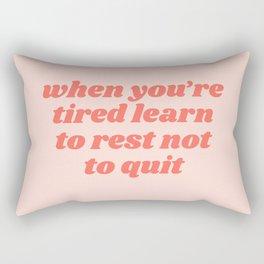 learn to rest Rectangular Pillow