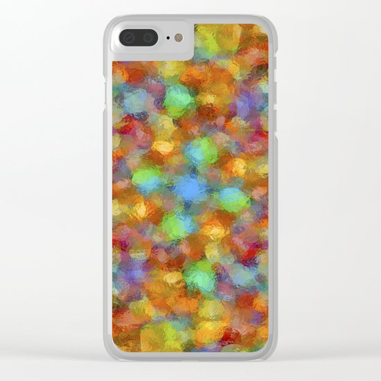 Abstract Watercolour Bubbly Pattern Clear iPhone Case