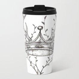 Crown and Stag Metal Travel Mug