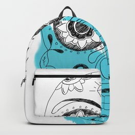 Dia Skull Blue Backpack