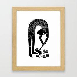 logger Framed Art Print