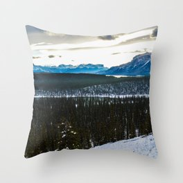 On route to Brule Alberta, Canada Throw Pillow