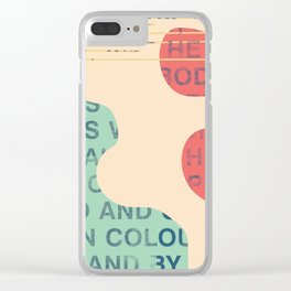 lie cold Clear iPhone Case