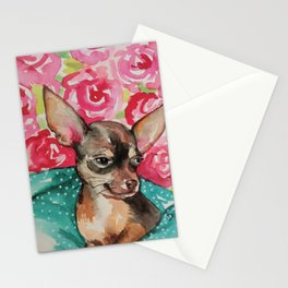 lola chihuahua Stationery Cards