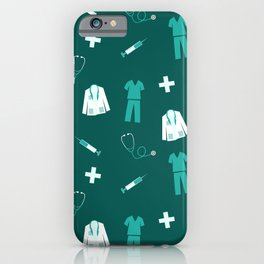 Medical Professional Pattern iPhone Case