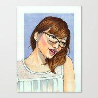 tina crespo Canvas Prints featuring Tina by kamicokrolock