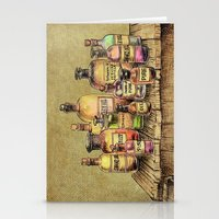 oil Stationery Cards featuring Snake Oil by Eric Fan