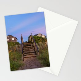 Beach Houses at Sunrise Stationery Cards