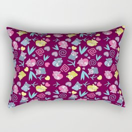 Cute Red Pandas Pattern Rectangular Pillow