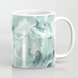 Marble Mist Green Grey Coffee Mug