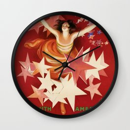 Vintage 1921 Italian Gancia Vermouth Advertisement by Leonetto Cappiello Wall Clock