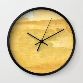 Sandy brown abstract wash painting Wall Clock