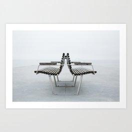 Bellevue beach Copenhagen Art Print