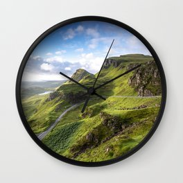 The Quiraing at Sunrise II Wall Clock
