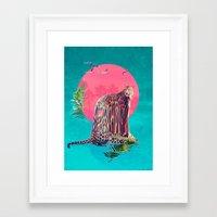 jaguar Framed Art Prints featuring Jaguar by Ali GULEC