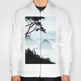 Misty Canon Beach Scenic from Ecola State Park Hoody