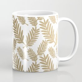 Elegant faux gold foil tropical leaves floral pattern Coffee Mug