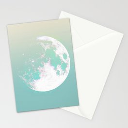 soft moon. space Stationery Cards