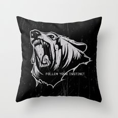 The Bear Throw Pillow