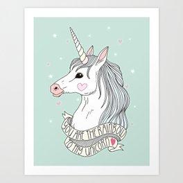 Unicorn Girl Art Prints Society6