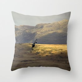 Flying over fields of gold Throw Pillow