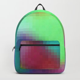 pixelated watercolor IX after dark Backpack