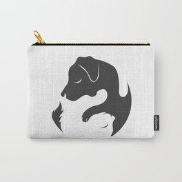 Yin Yang Dog Cat Couple Matching Cartoon Shirt Men Womens Carry-All Pouch