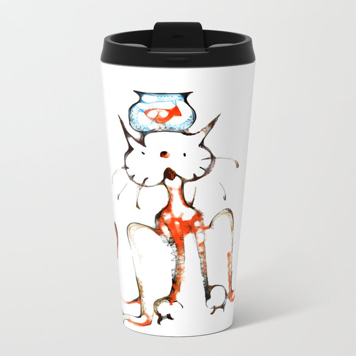 cool sketch 201 Metal Travel Mug