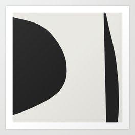 Minimal Black Art Print