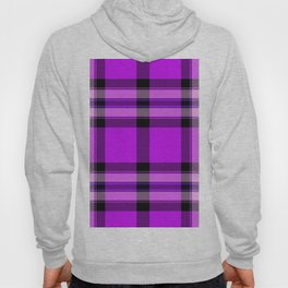 Argyle Fabric Plaid Pattern Purple and Black Colors Hoody