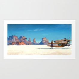 In White Desert Art Print