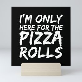 Pizza Rolls Pizza Italy Salami Mozzarella Food Mini Art Print