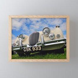Jaguar Classic Vintage Motor Car Framed Mini Art Print