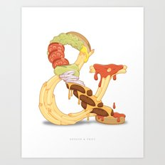 Burger & Fries Art Print