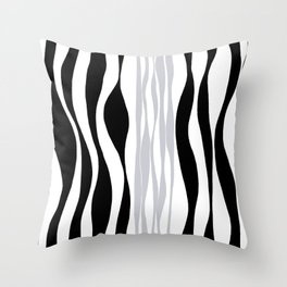 Ebb and Flow - Grey Throw Pillow