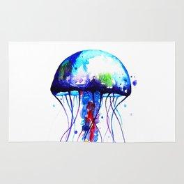 Jellyfish blue Rug