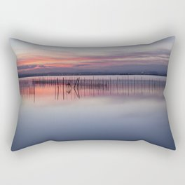 Peaceful view of the Valencia water's surface with the land in the distance Rectangular Pillow