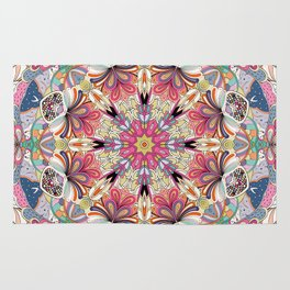 Tracery calming pattern Rug
