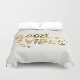 Good Vibes – Gold Ink Duvet Cover