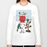snoopy Long Sleeve T-shirts featuring Snoopy 01 by tanduksapi